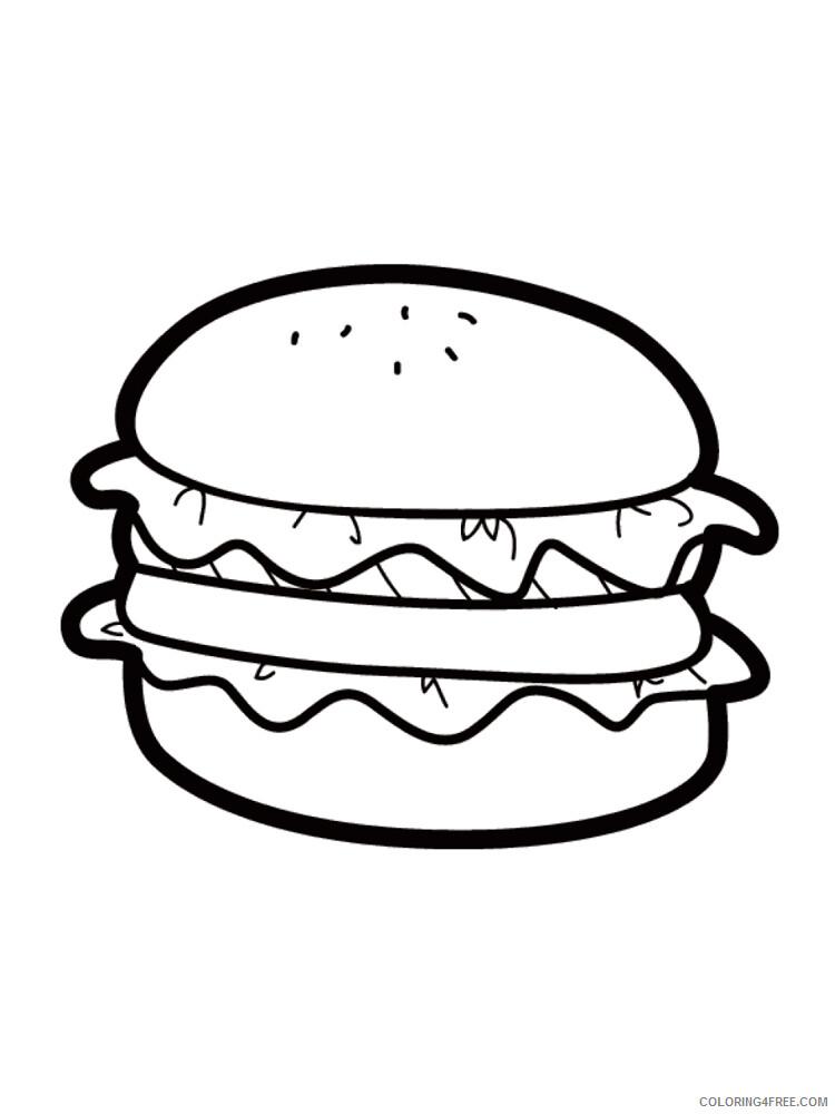 Hamburger Coloring Pages for Kids Hamburger 14 Printable 2021 315 Coloring4free