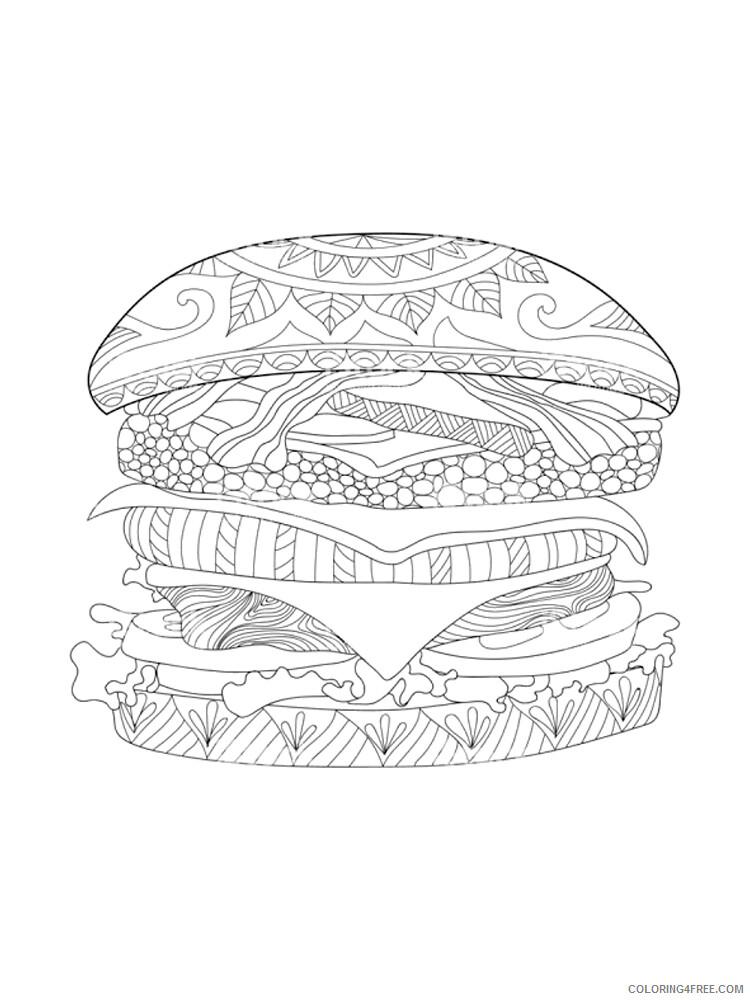Hamburger Coloring Pages for Kids Hamburger 16 Printable 2021 317 Coloring4free