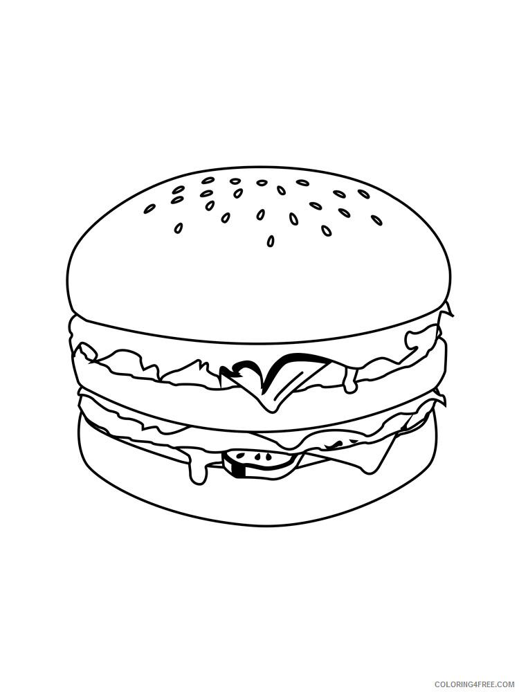 Hamburger Coloring Pages for Kids Hamburger 17 Printable 2021 318 Coloring4free