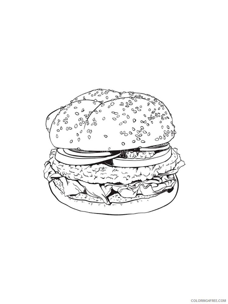 Hamburger Coloring Pages for Kids Hamburger 19 Printable 2021 320 Coloring4free