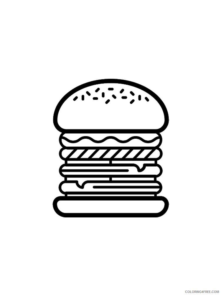 Hamburger Coloring Pages for Kids Hamburger 20 Printable 2021 322 Coloring4free