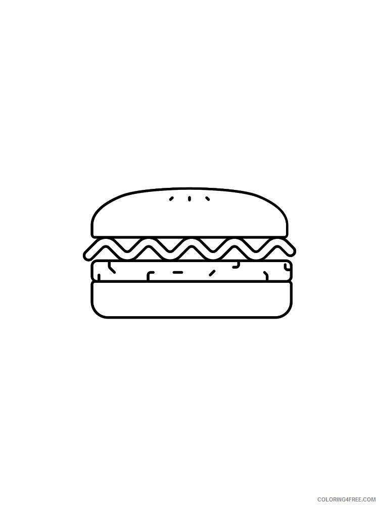 Hamburger Coloring Pages for Kids Hamburger 4 Printable 2021 324 Coloring4free