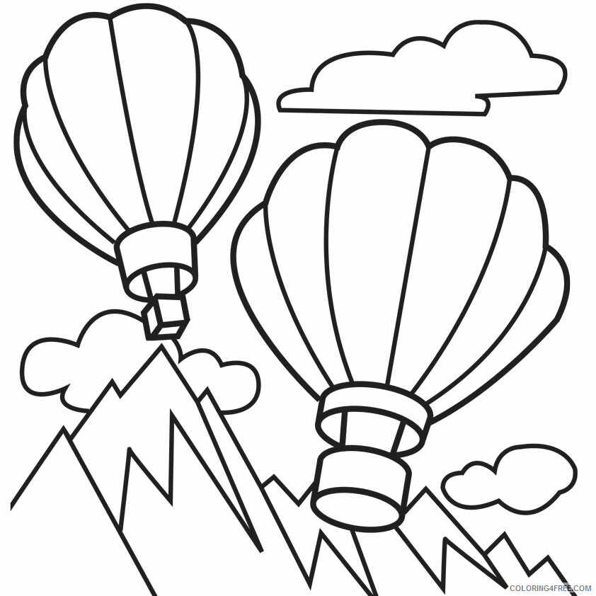 Hot Air Balloon Coloring Pages for Kids Free Printable 2021 327 Coloring4free