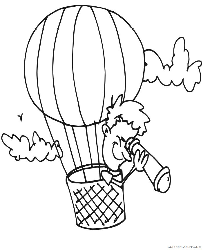 Hot Air Balloon Coloring Pages for Kids Hot Air Balloon Printable 2021 328 Coloring4free