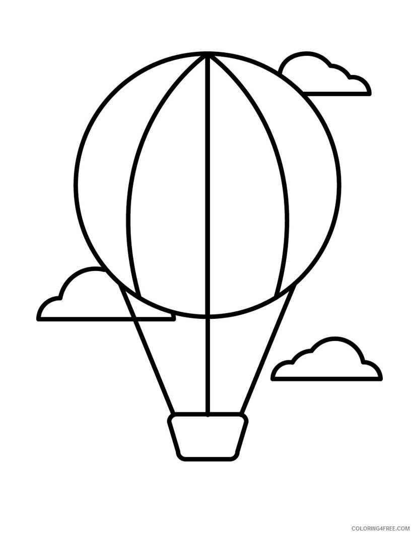 Hot Air Balloon Coloring Pages for Kids Hot Air Balloon Printable 2021 330 Coloring4free