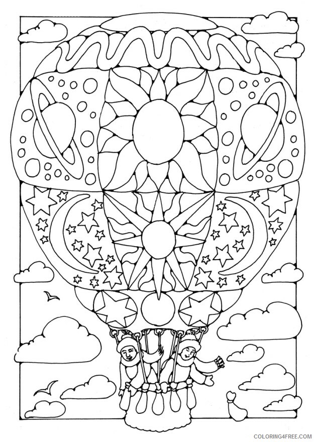 Hot Air Balloon Coloring Pages for Kids Hot Air Balloon Printable 2021 336 Coloring4free