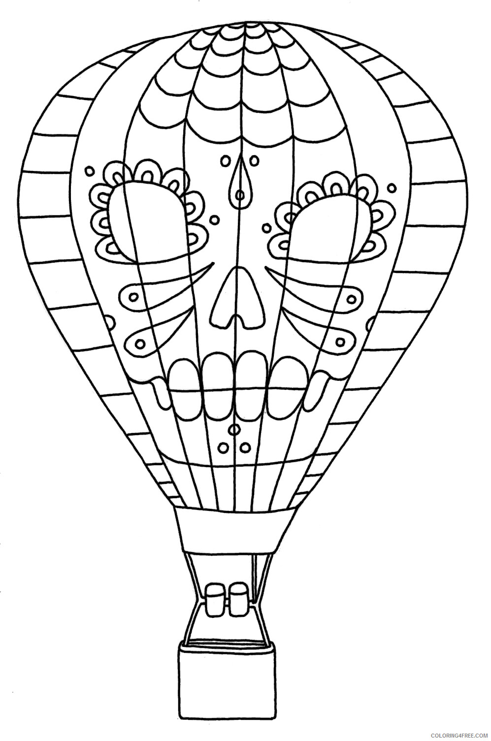 Hot Air Balloon Coloring Pages for Kids Hot Air Balloon Printable 2021 337 Coloring4free