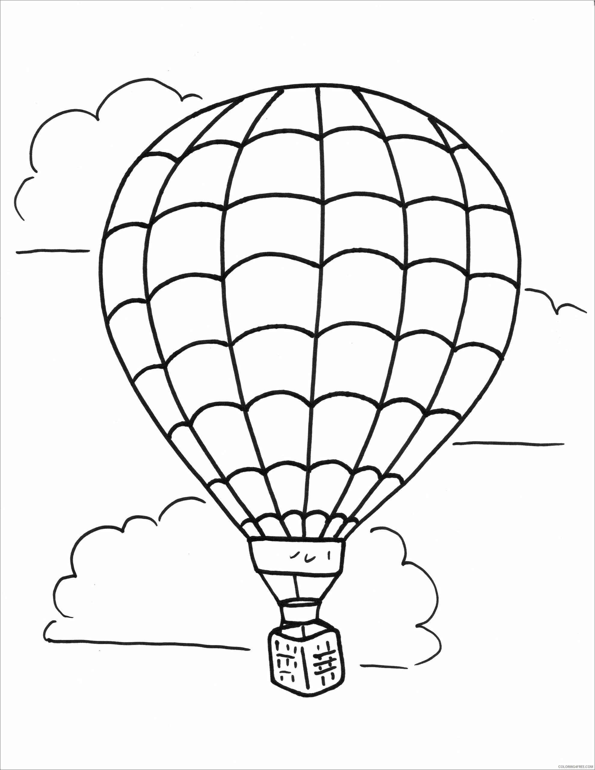 Hot Air Balloon Coloring Pages for Kids hot air balloon Printable 2021 335 Coloring4free