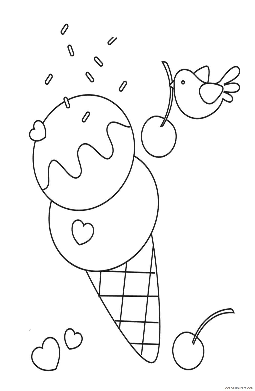 Ice Cream Coloring Pages for Kids Free Ice Cream Printable 2021 355 Coloring4free