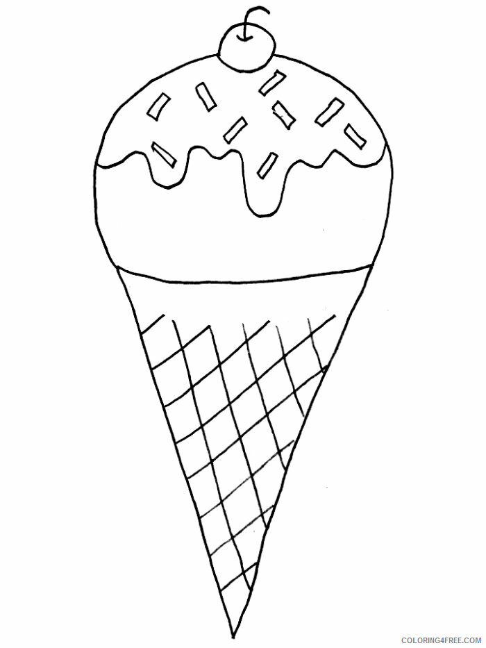 Ice Cream Coloring Pages for Kids Ice Cream Cone Printable 2021 398 Coloring4free