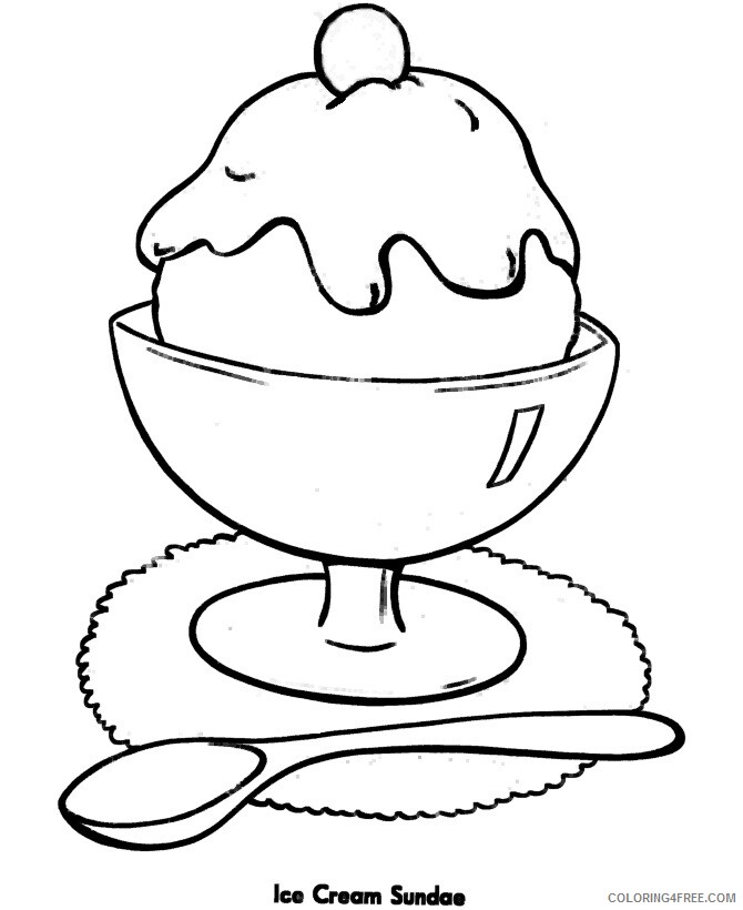 Ice Cream Coloring Pages for Kids Ice Cream Print Printable 2021 390 Coloring4free