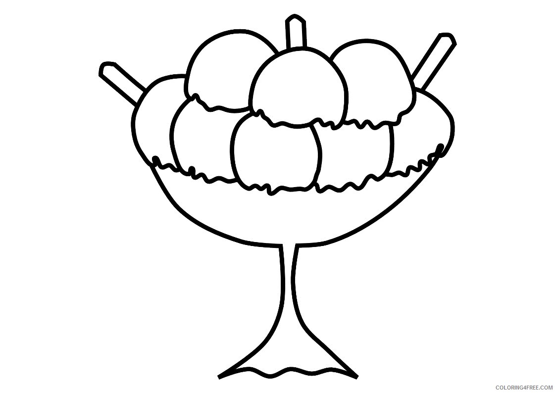 Ice Cream Coloring Pages for Kids Ice Cream Printable 2021 370 Coloring4free