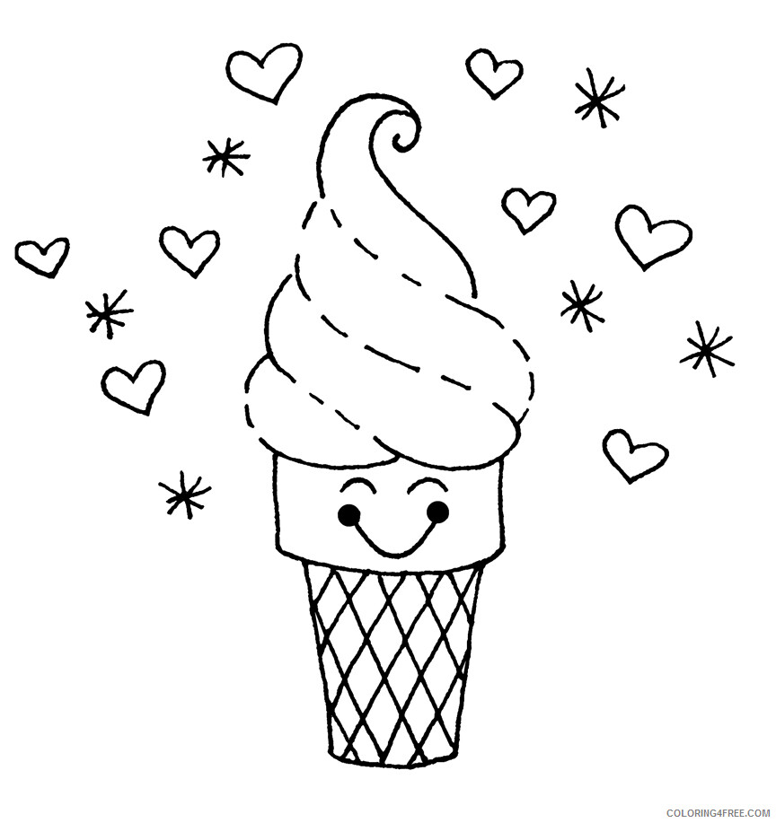 Ice Cream Coloring Pages for Kids Ice Cream to Print Printable 2021 392 Coloring4free
