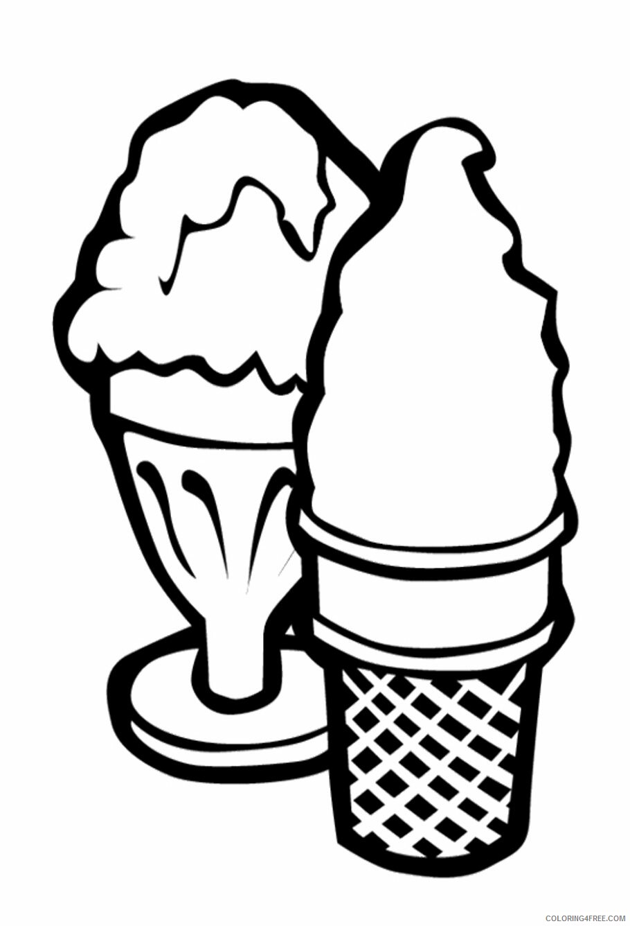 Ice Cream Coloring Pages for Kids Printable Ice Cream Printable 2021 408 Coloring4free