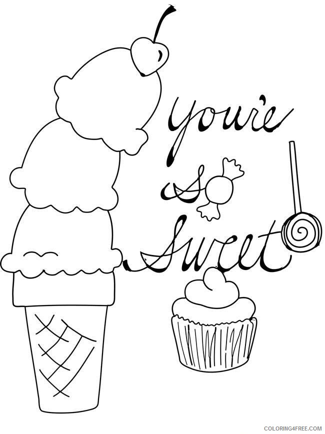 Ice Cream Coloring Pages for Kids Sweet Ice Cream Printable 2021 411 Coloring4free