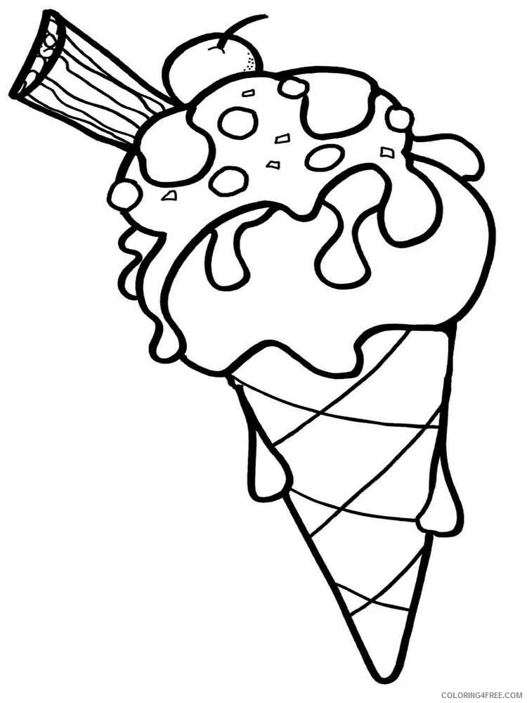 Ice Cream Coloring Pages for Kids ice cream 4 Printable 2021 380 Coloring4free
