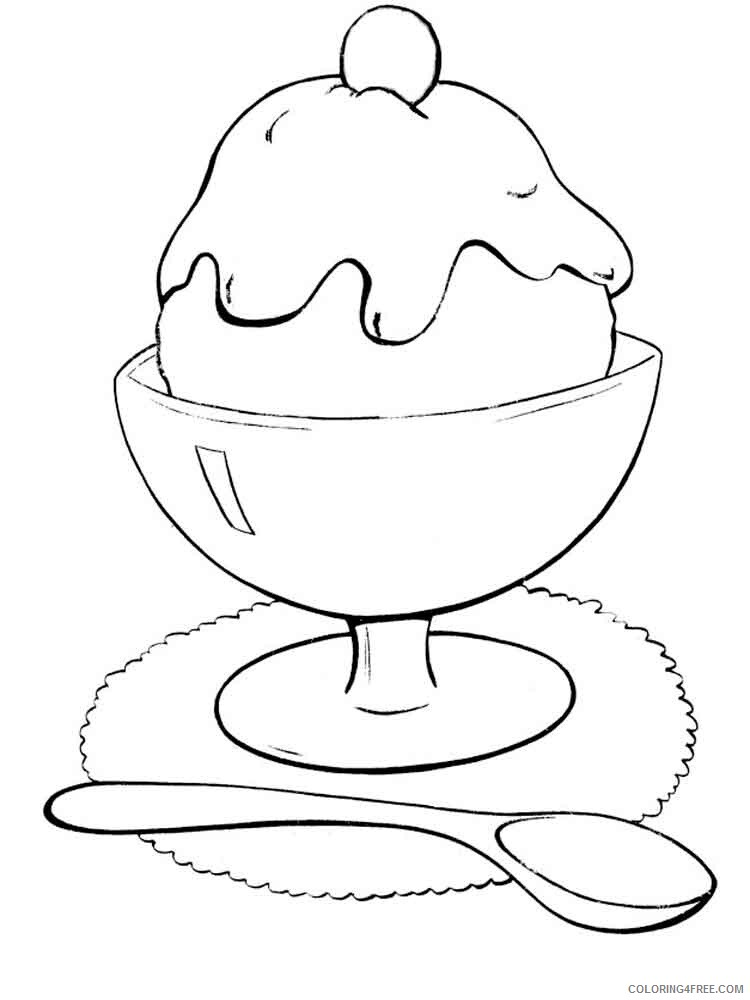 Ice Cream Coloring Pages for Kids ice cream 6 Printable 2021 382 Coloring4free