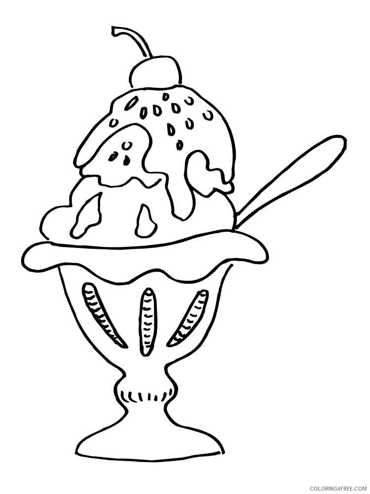 Ice Cream Coloring Pages for Kids ice cream 7 Printable 2021 383 Coloring4free
