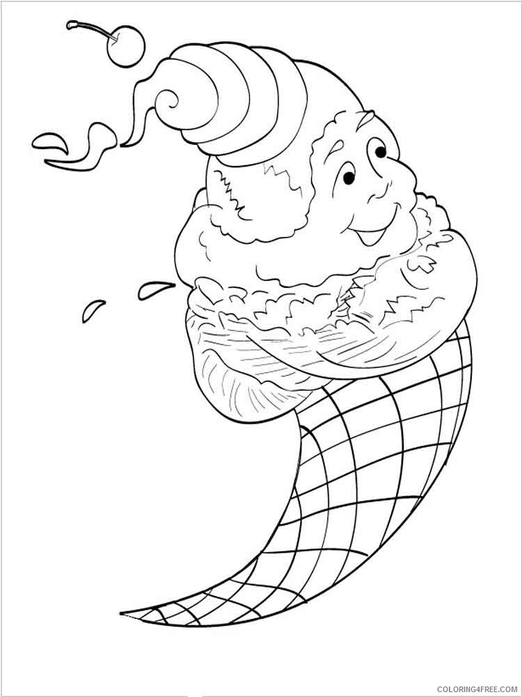 Ice Cream Coloring Pages for Kids ice cream 9 Printable 2021 385 Coloring4free