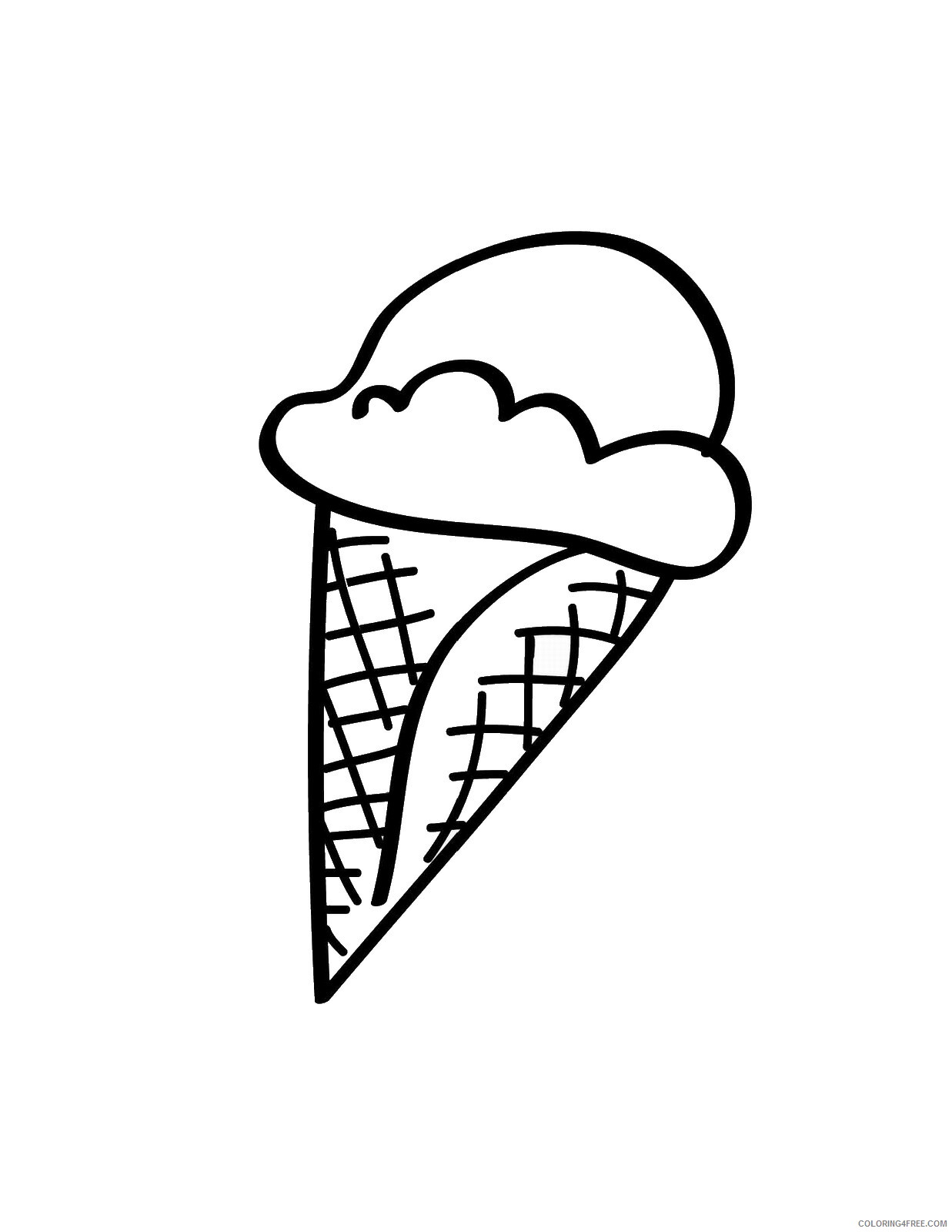 Ice Cream Coloring Pages for Kids icecream_02 Printable 2021 359 Coloring4free