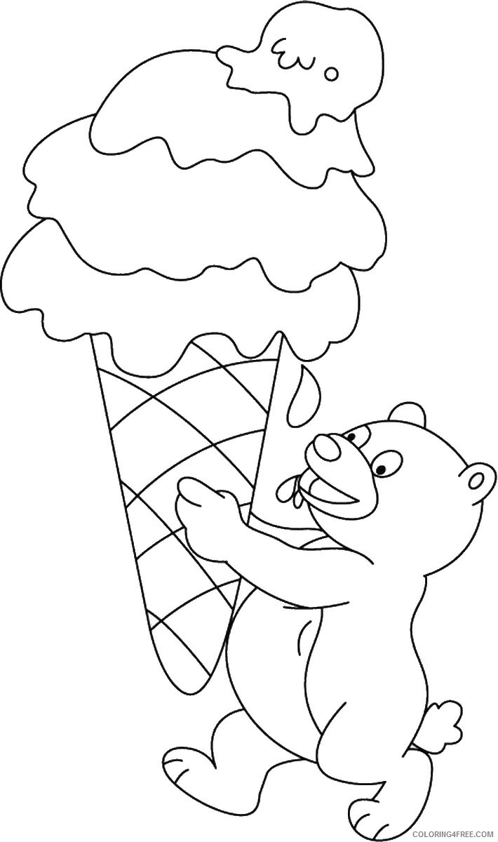 Ice Cream Coloring Pages for Kids icecream_03 Printable 2021 360 Coloring4free
