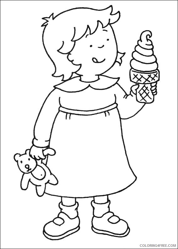 Ice Cream Coloring Pages for Kids rosie eating icecream Printable 2021 339 Coloring4free