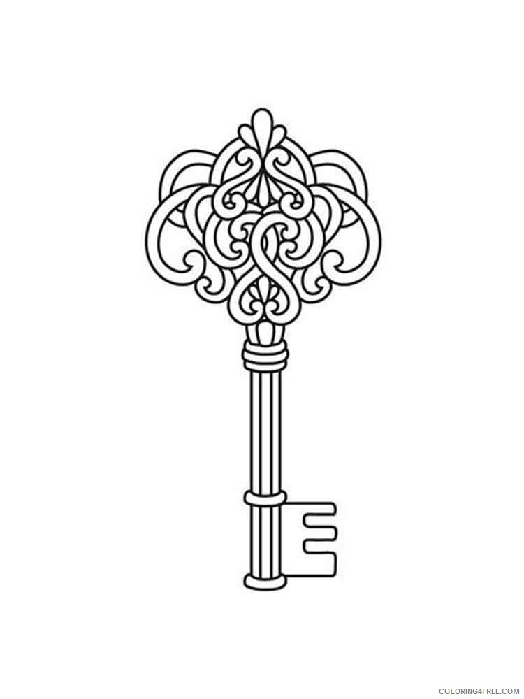 Key Coloring Pages for Kids key 1 Printable 2021 413 Coloring4free