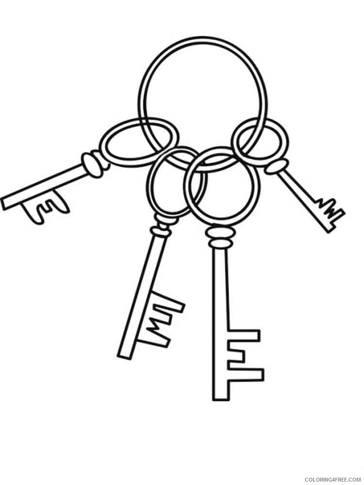 Key Coloring Pages for Kids key 11 Printable 2021 415 Coloring4free