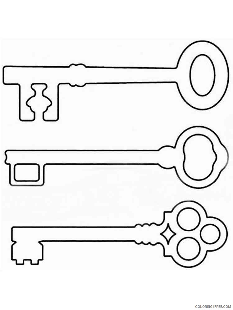 Key Coloring Pages for Kids key 6 Printable 2021 418 Coloring4free