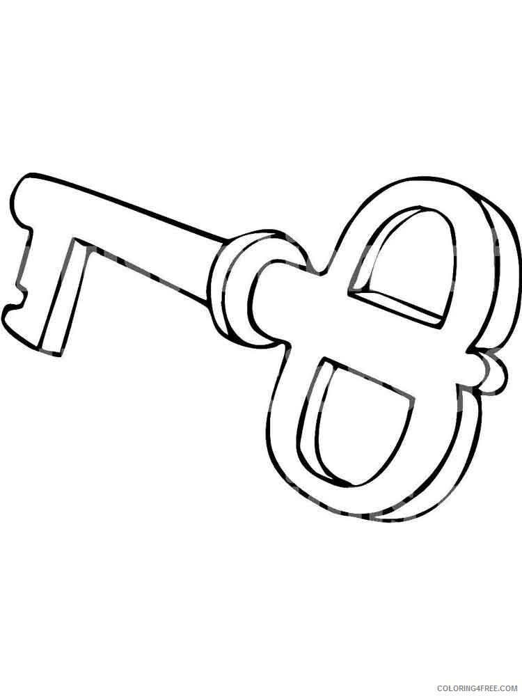 Key Coloring Pages for Kids key 7 Printable 2021 419 Coloring4free