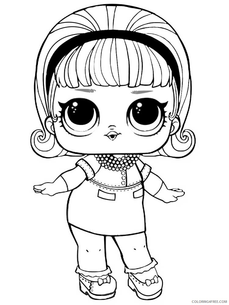 LOL Dolls Coloring Pages For Girls Lol Dolls 10 Printable 2021 0805  Coloring4free - Coloring4Free.com