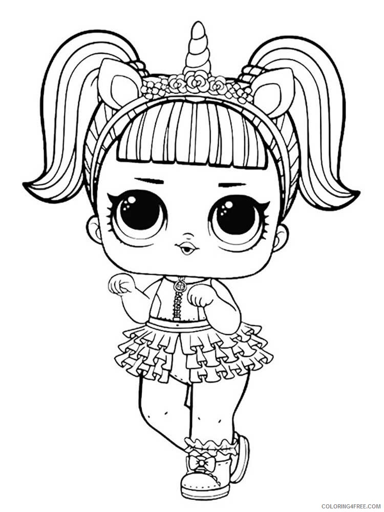 LOL Dolls Coloring Pages For Girls Lol Dolls 14 Printable 2021 0809  Coloring4free - Coloring4Free.com