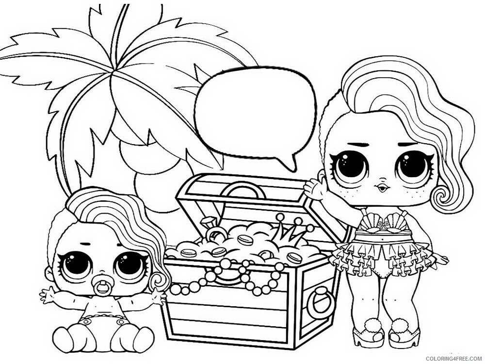 LOL Dolls Coloring Pages For Girls Lol Dolls 20 Printable 2021 0816  Coloring4free - Coloring4Free.com