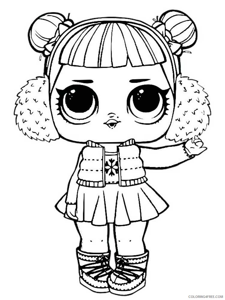 LOL Dolls Coloring Pages For Girls Lol Dolls 8 Printable 2021 0825  Coloring4free - Coloring4Free.com