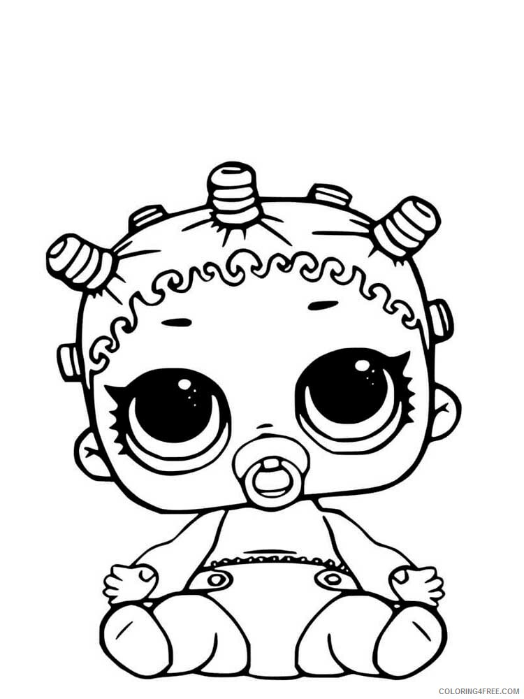 LOL Dolls Coloring Pages For Girls Lol Dolls 9 Printable 2021 0826  Coloring4free - Coloring4Free.com