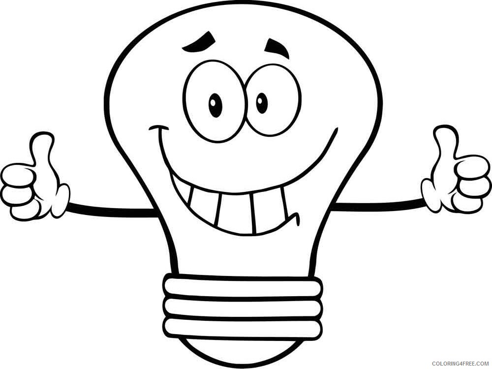 Lightbulb Coloring Pages for Kids Lightbulb 1 Printable 2021 421 Coloring4free