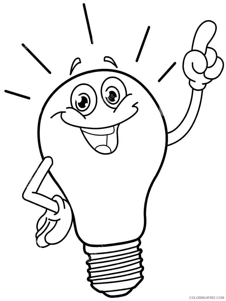 Lightbulb Coloring Pages for Kids Lightbulb 10 Printable 2021 422 Coloring4free