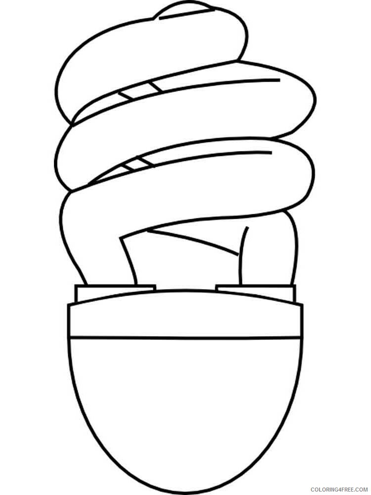 Lightbulb Coloring Pages for Kids Lightbulb 3 Printable 2021 424 Coloring4free
