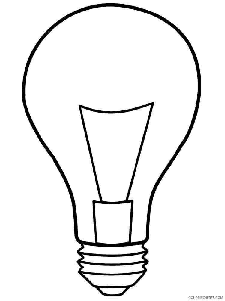 Lightbulb Coloring Pages for Kids Lightbulb 4 Printable 2021 425 Coloring4free