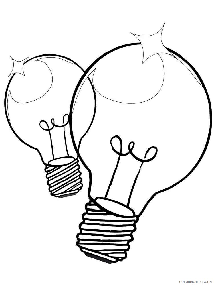 Lightbulb Coloring Pages for Kids Lightbulb 8 Printable 2021 426 Coloring4free