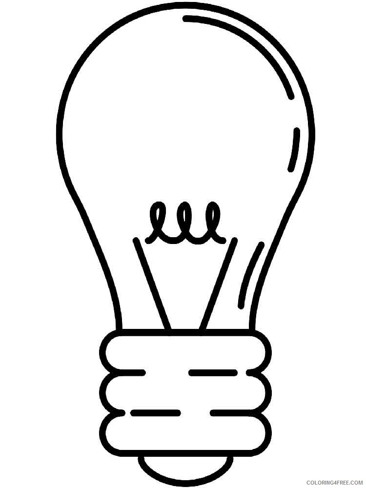Lightbulb Coloring Pages for Kids Lightbulb 9 Printable 2021 427 Coloring4free