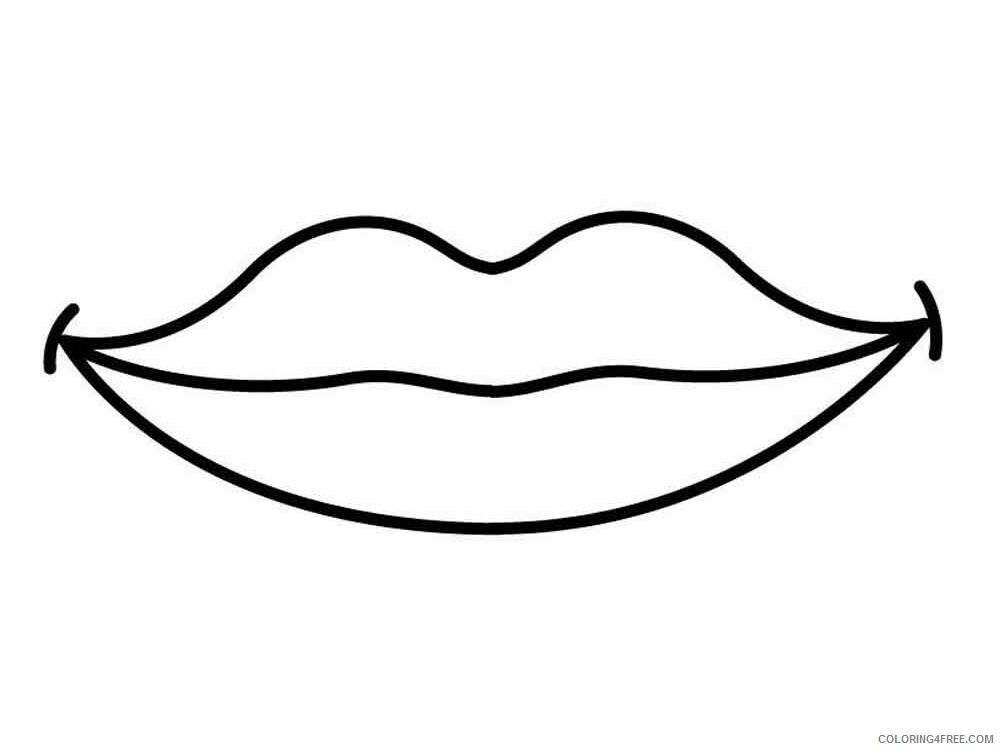 Lips Coloring Pages for Kids lips 4 Printable 2021 430 Coloring4free