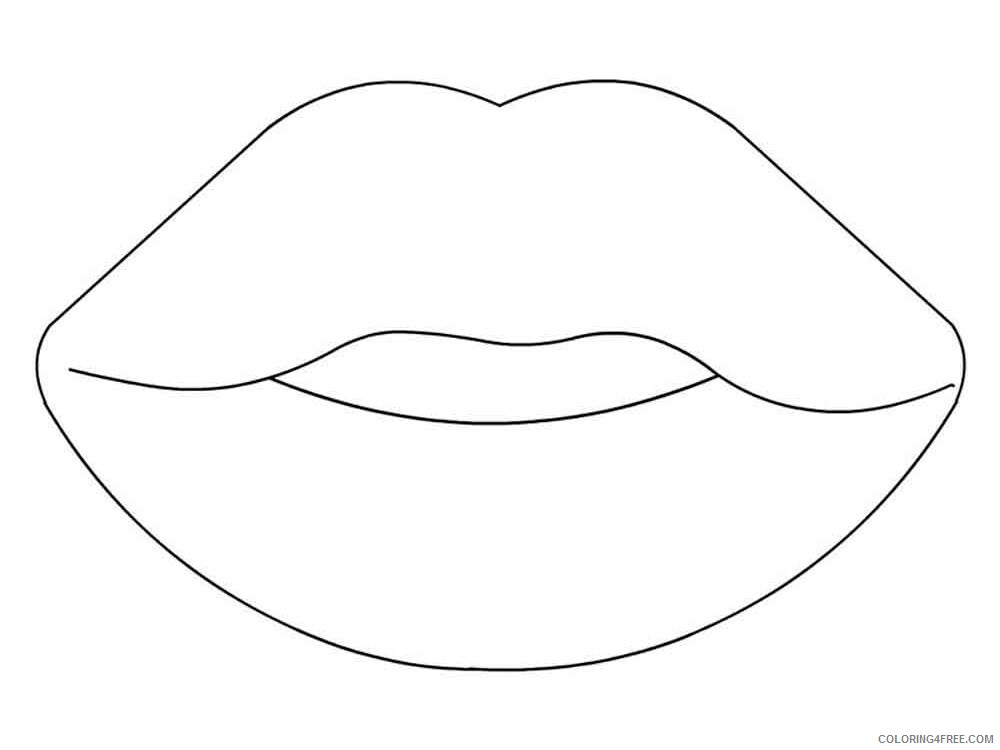 Lips Coloring Pages for Kids lips 5 Printable 2021 431 Coloring4free