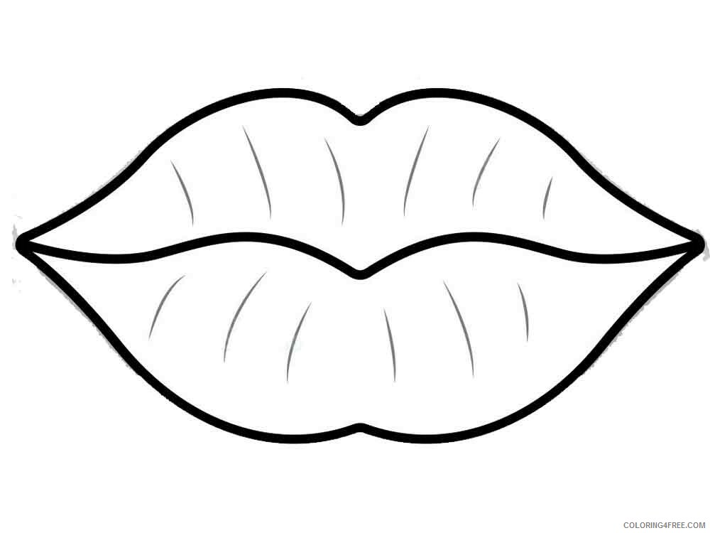 Lips Coloring Pages for Kids lips 6 Printable 2021 432 Coloring4free