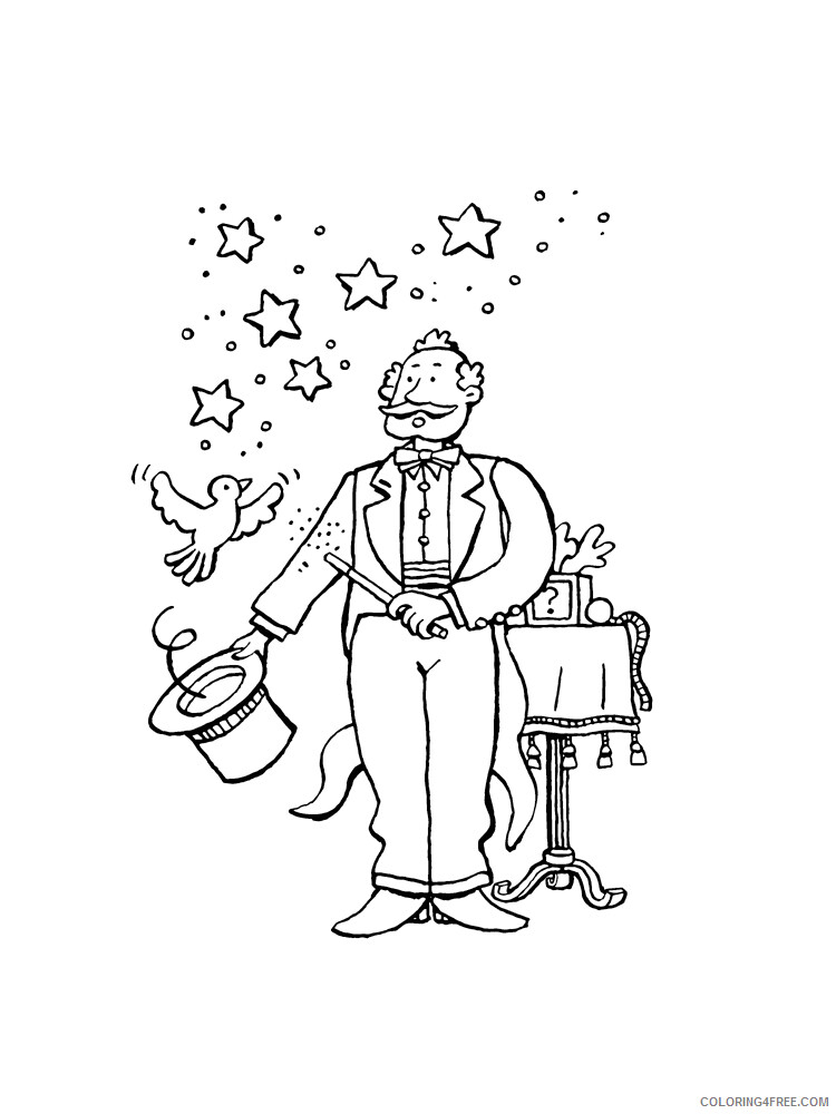 Magician Coloring Pages for Kids Magician 11 Printable 2021 437 Coloring4free