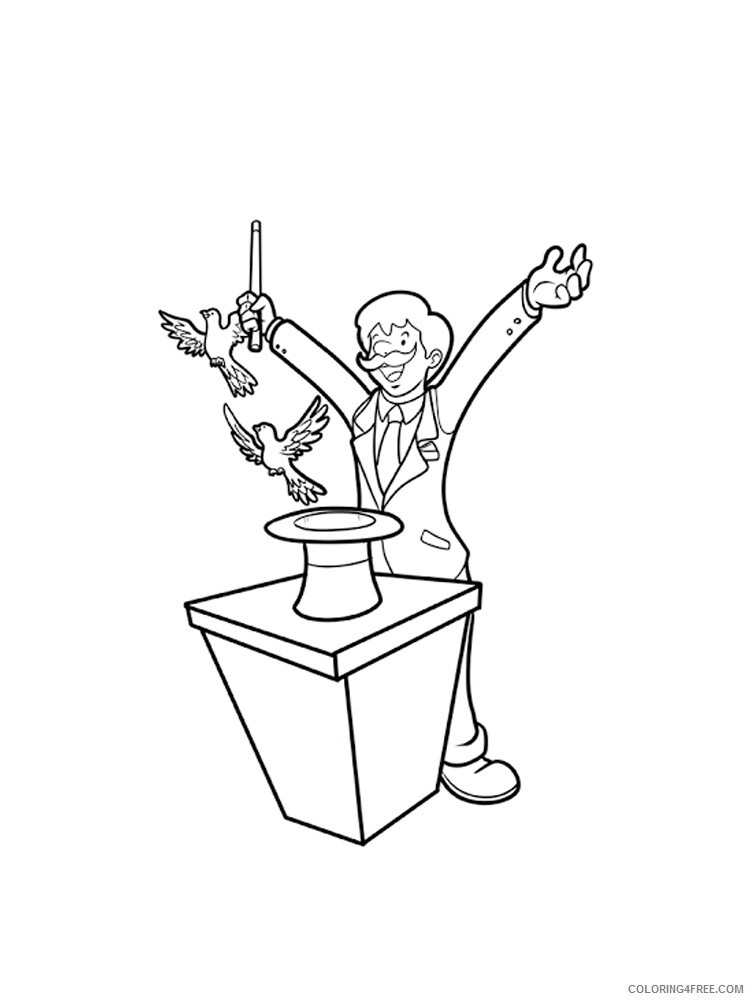 Magician Coloring Pages for Kids Magician 13 Printable 2021 439 Coloring4free