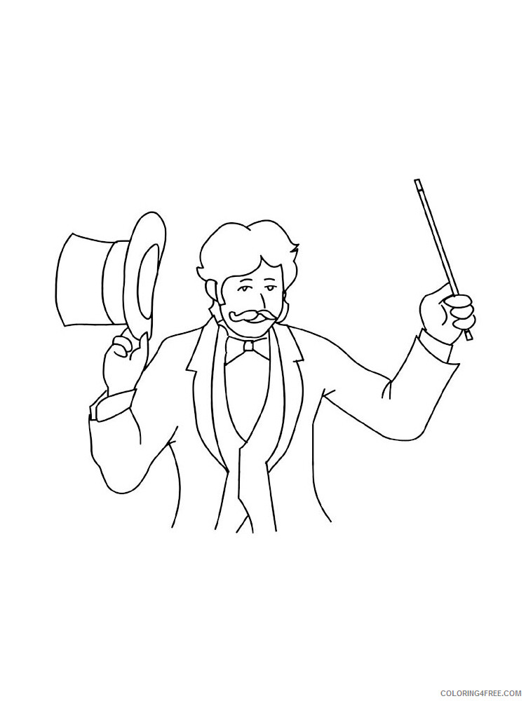 Magician Coloring Pages for Kids Magician 5 Printable 2021 445 Coloring4free