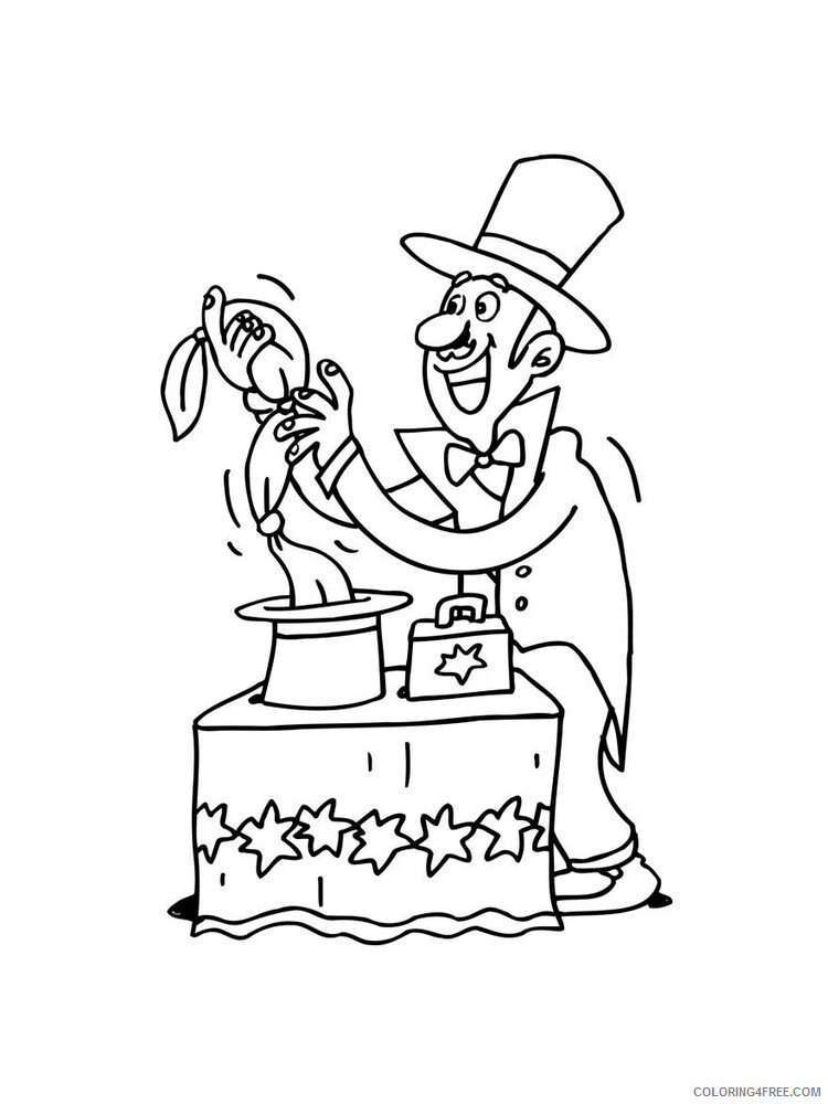 Magician Coloring Pages for Kids Magician 8 Printable 2021 446 Coloring4free