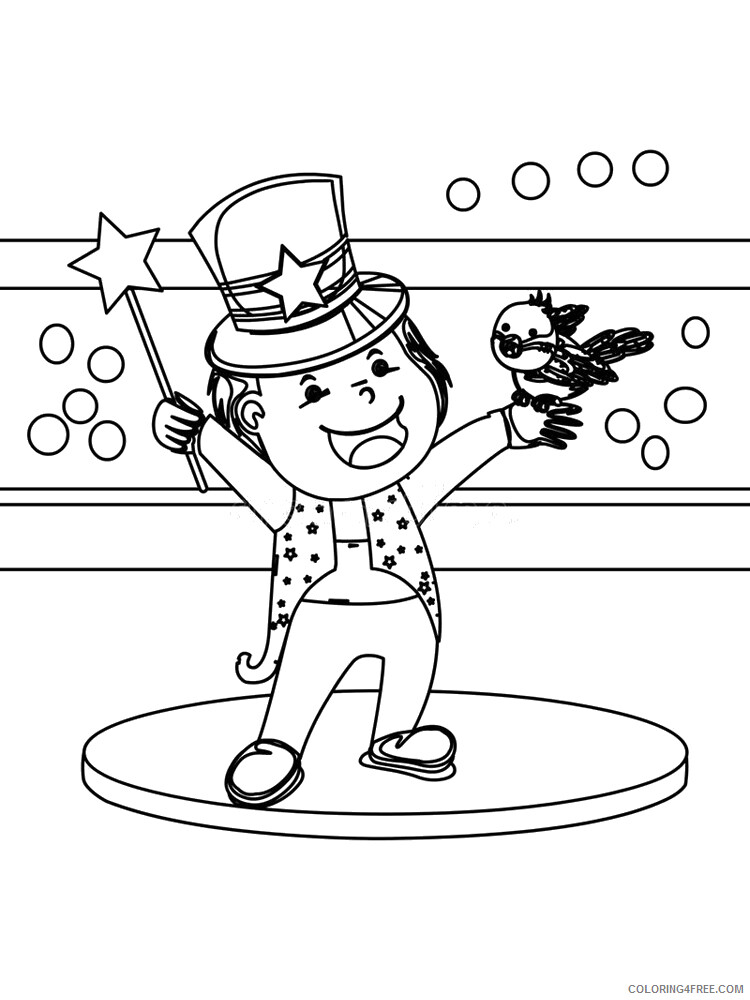 Magician Coloring Pages for Kids Magician 9 Printable 2021 447 Coloring4free