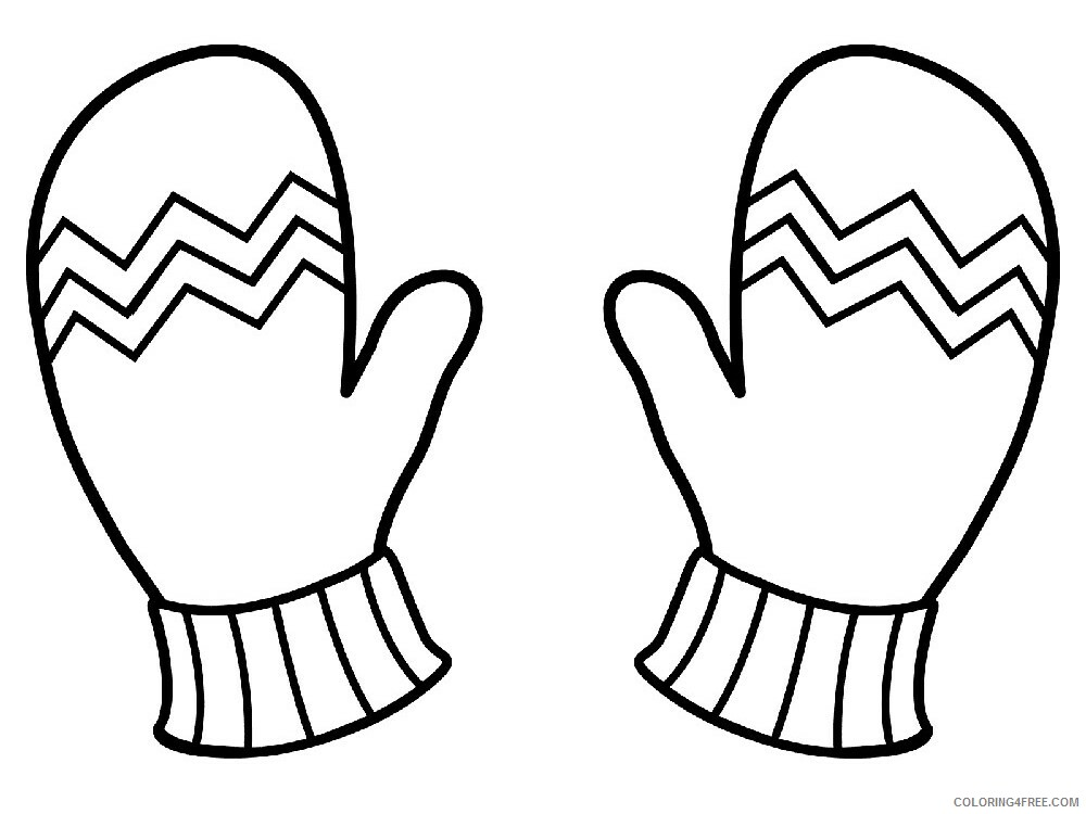 Mittens Coloring Pages for Kids mittens 2 Printable 2021 454 Coloring4free